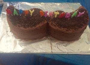 Sarah's Mustache Cake